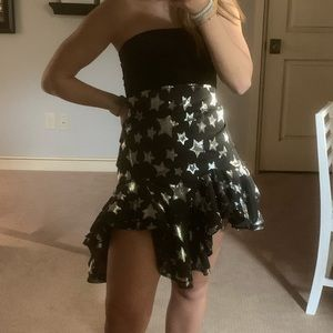 Black and silver skirt